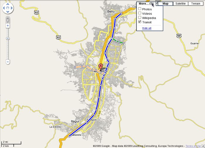 mapa medellin transito google maps