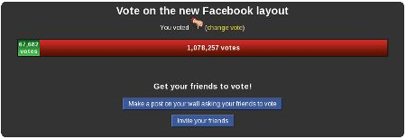 votacion nueva layout de facebook