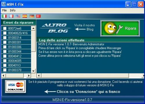 msn e-fix errores messenger