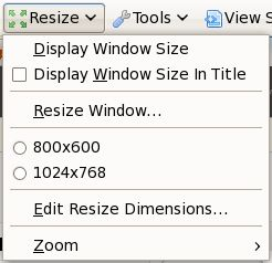 resize web developer