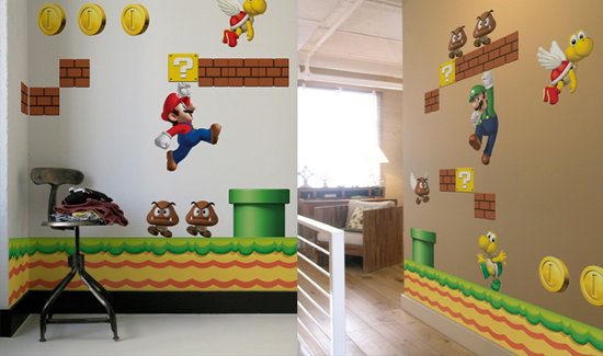Super Mario Bros Wall Decals