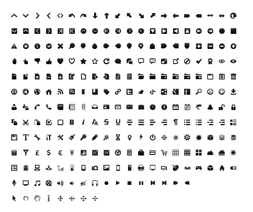 wireframe toolbar icon set
