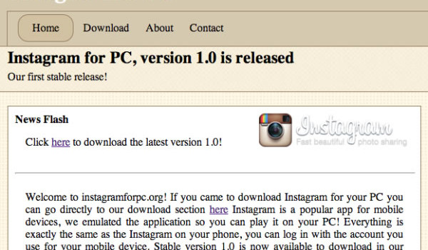 instagram pc