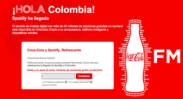 spotify coca cola colombia